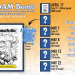 "GeePeeKay and hobbyDB Introduce: Adam Bomb Limited Edition ""Art by John Pound"" Sticker Card – Week 2"