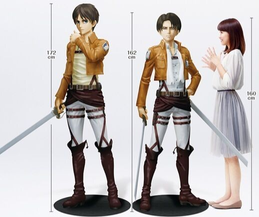 Real-Size Eren and Levi