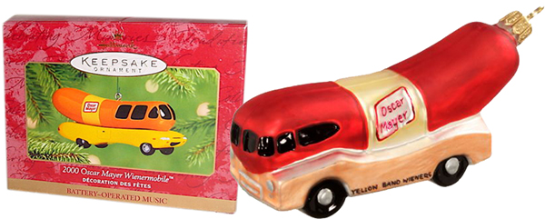Oscar Mayer Weinermobile ornament