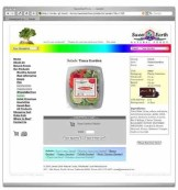 A custom website with product database. All food items were accessible from all pages, only one click away