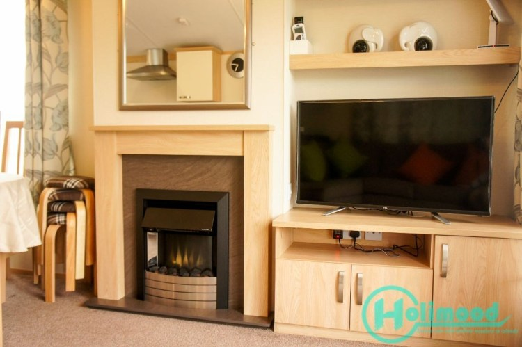 大電視及暖爐