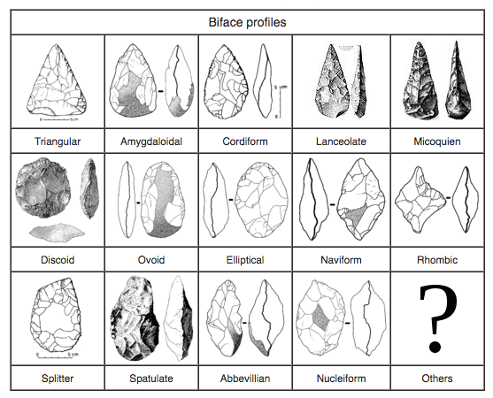 Biface Profiles - early forms of material culture