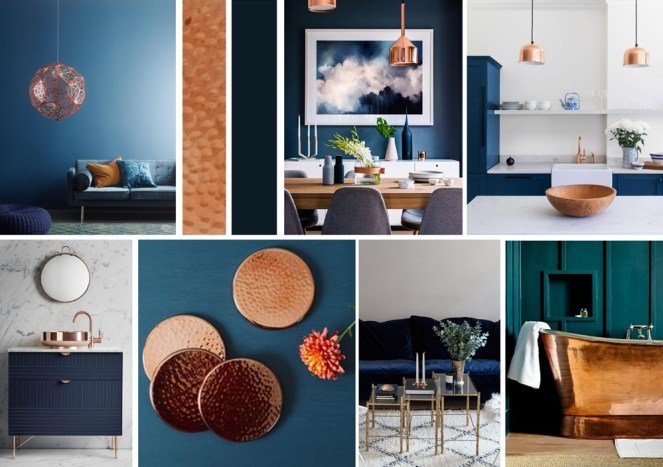 Navy & Copper Interior Inspiration