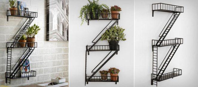 Design Ideas Decorative Storage Fire Escape Shelf