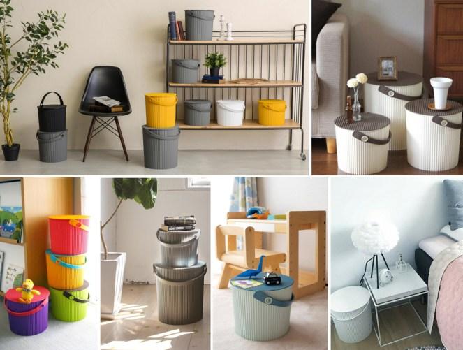 Hachiman Decorative Storage Omnioutil Buckets
