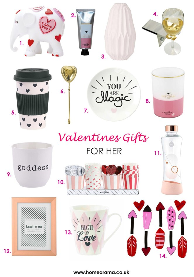 Valentines Gifts for Her 2018 numbered