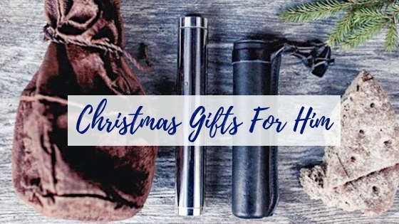 Gifts for Him Christmas Blog Title Image