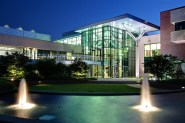 glass paneled meeting hall