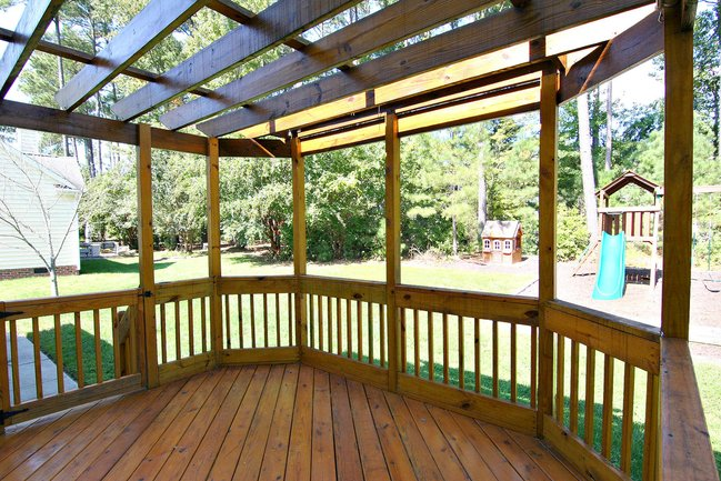 Large outdoor pergola.