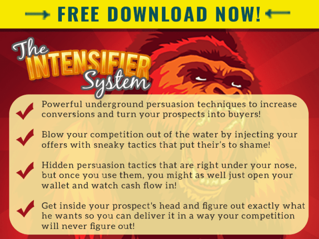 FREE DOWNLOAD OF THE INTENSIFIER SYSTEM