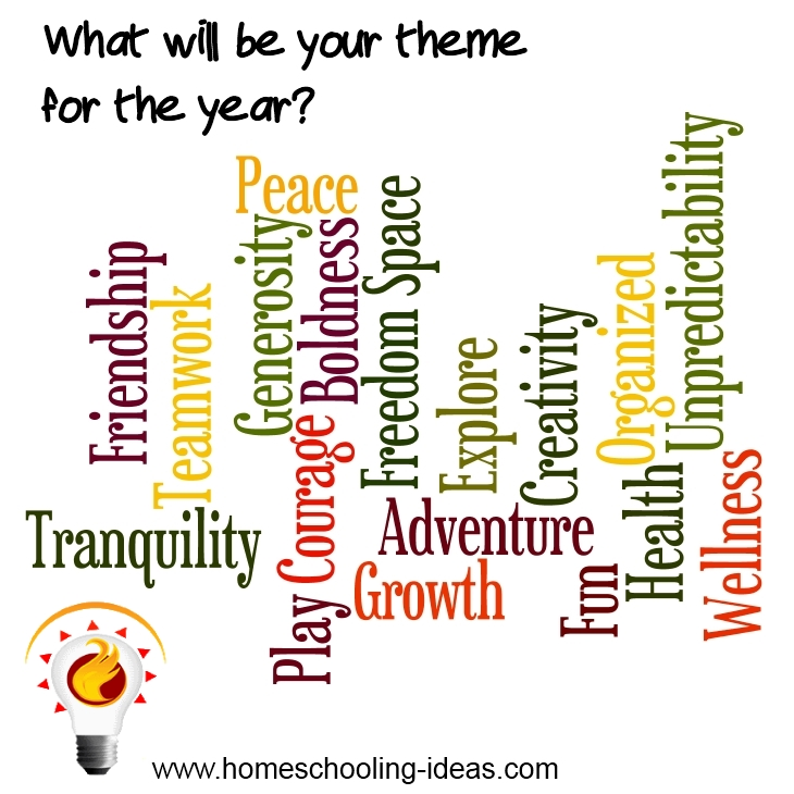 Planning your best homeschool yet - setting a theme.