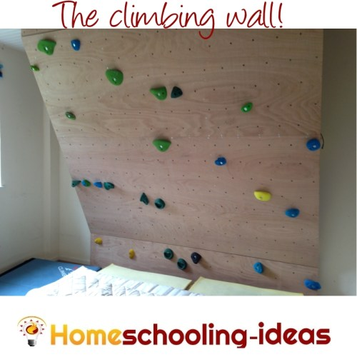 Homeschool Climbing Wall