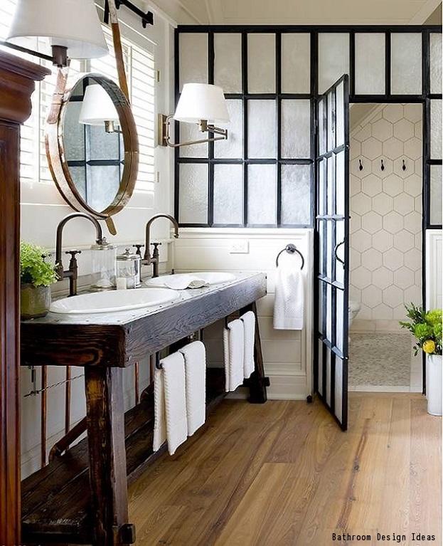 how to create a farmhouse style bathroom