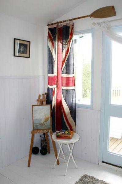 flag as curtains