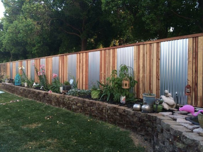 metal and wood fence styles
