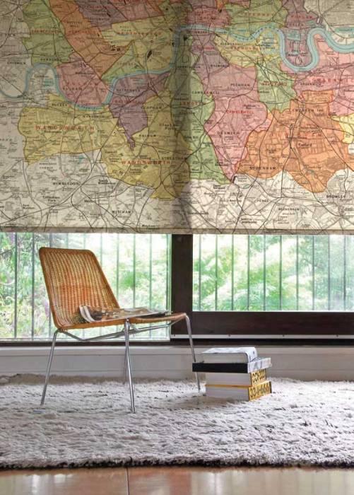 old map window treatment ideas