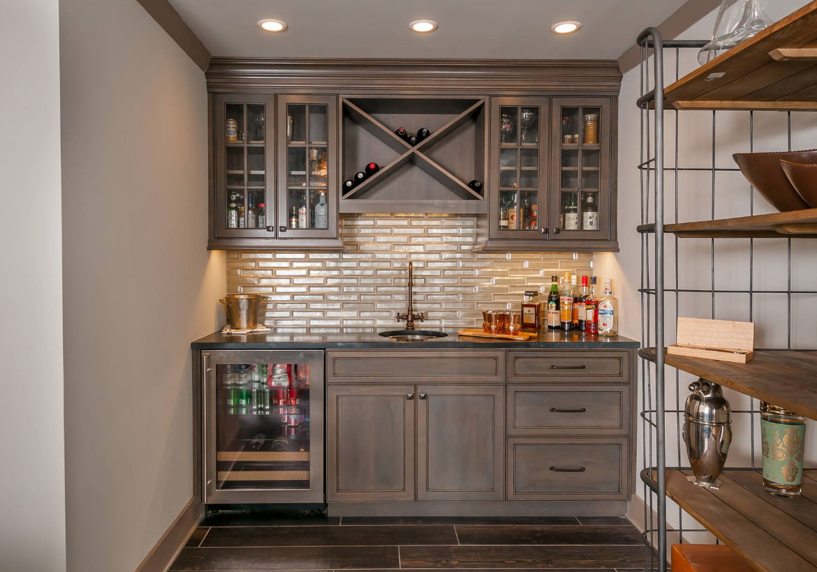 Basement Project Cost Breakdown on Small Wet Bar In Basement  id=51363