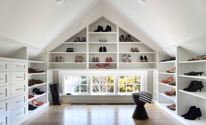 attic storage space clean after the holiday season