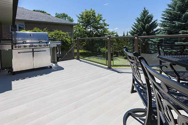 aluminum deck material backyard deck