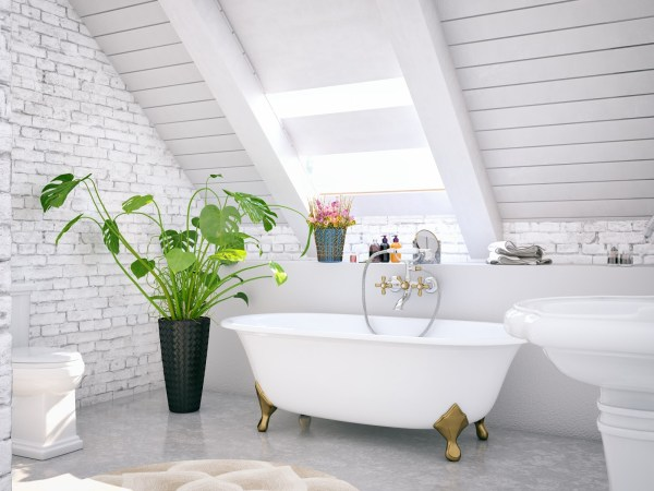 white bathroom, bathroom refresh for summer