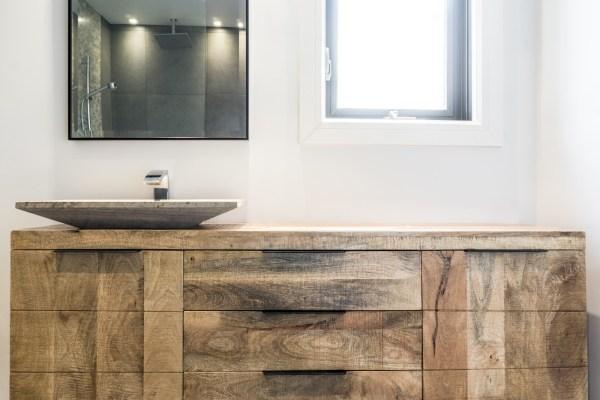 wood material bathroom vanity