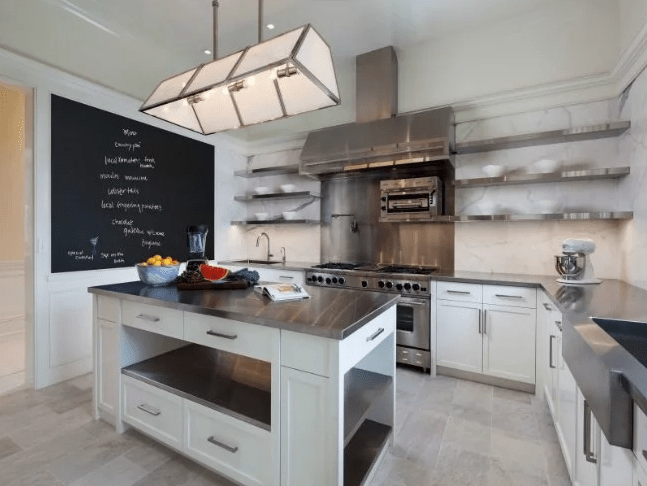 stainless steel kitchen countertop