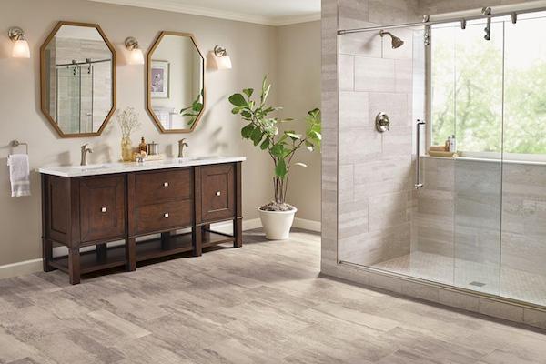 luxury vinyl flooring bathroom flooring