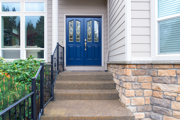 freshly painted blue door pantone colour of the year