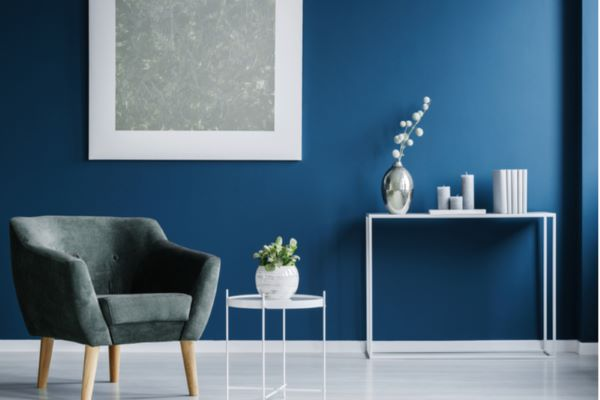 painted living room wall
