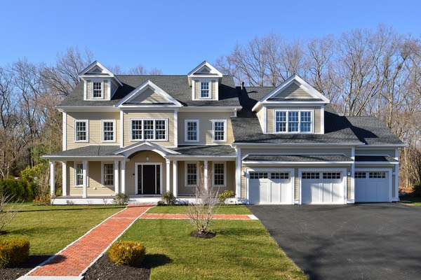 front yard of house with asphalt driveway