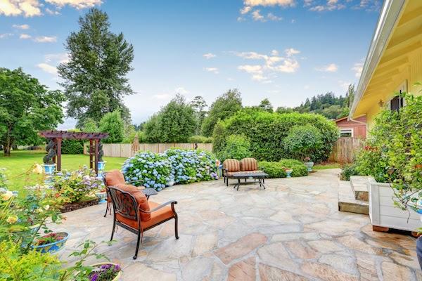 stone patio backyard summer projects