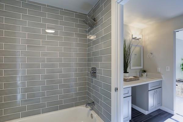 shower tiles clean bathroom