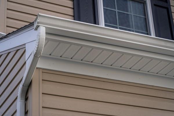 vinyl gutters on house