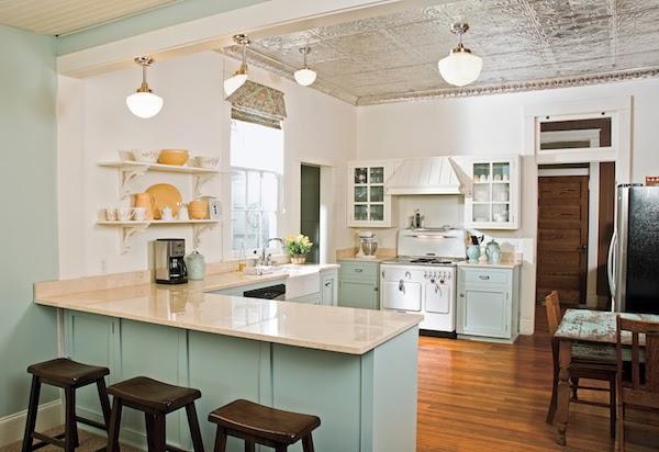tin tiles kitchen ceiling
