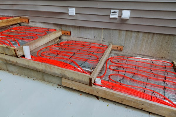 radiant heating install