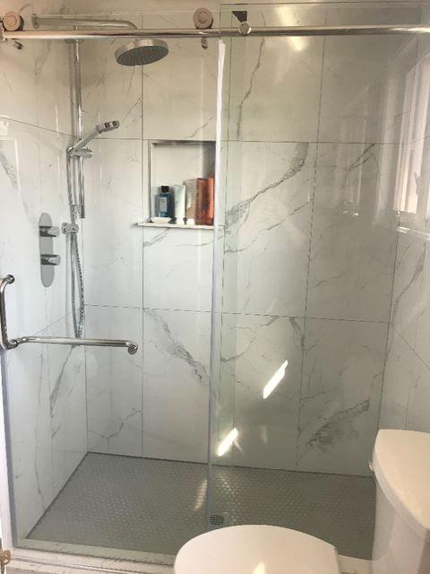 updated walk in shower