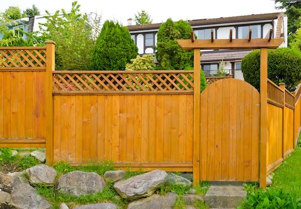wood fence around home