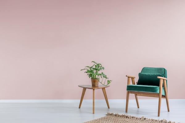 interior wall painted pink