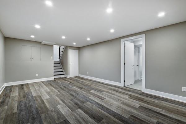 freshly painted basement rental unit