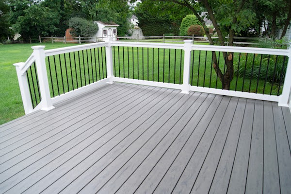 grey stained porch