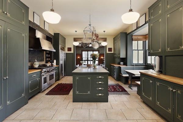 green kitchen cabinets 2021