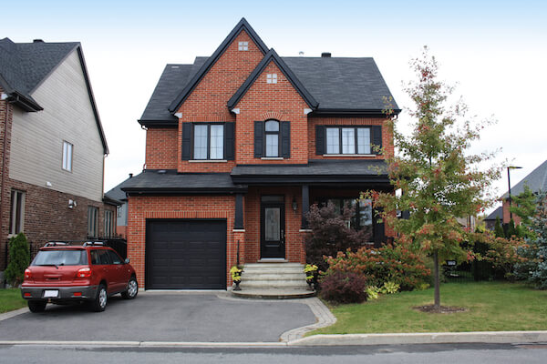 family home with asphalt driveway