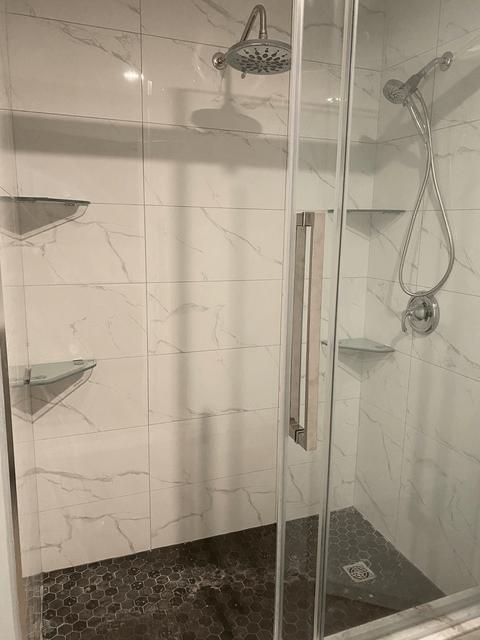 shower renovation after