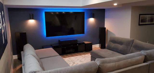 basement renovation tv room