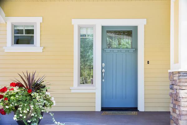 sky blue painted door
