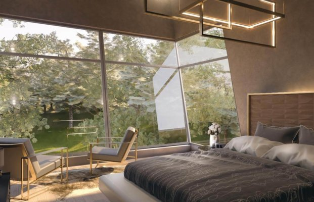 bedroom by KBK architects