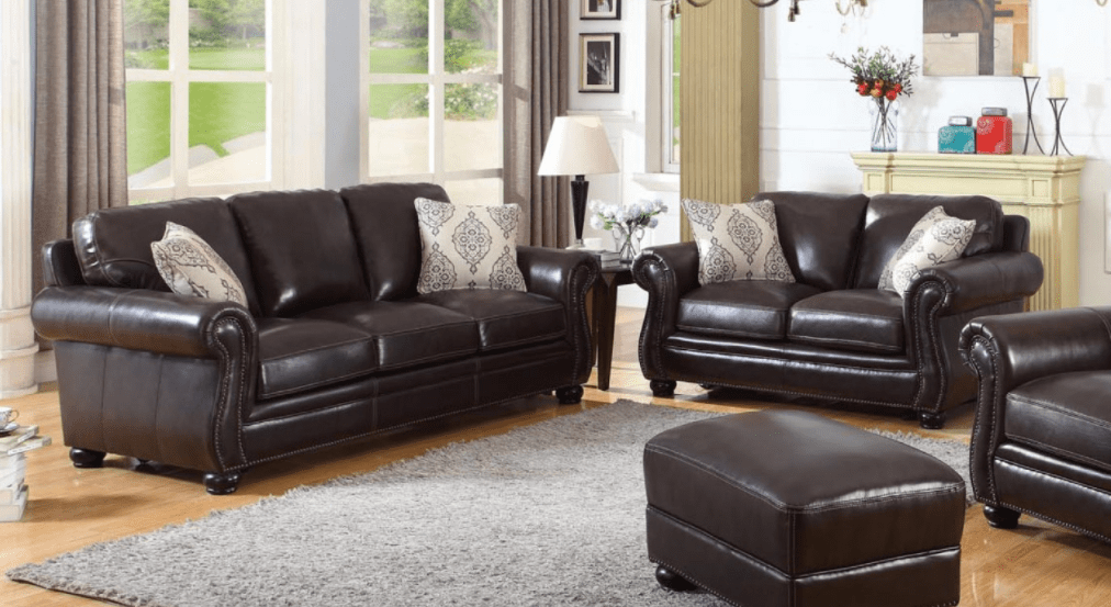 The Levon sofa and loveseat is where an elegant shape meets the durability  of leather  The top grain leather is soft  supple and shiny  making it a  perfect. Our 6 Favorite Home Zone New Arrivals For Spring   Home Zone