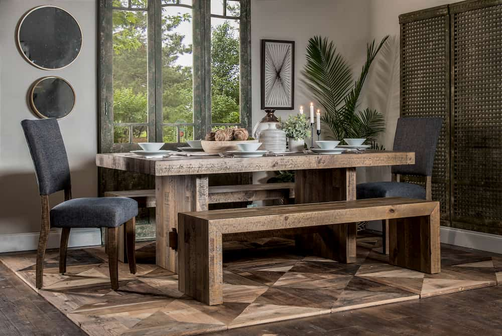 Brown Dining Bench - Home Zone Furniture