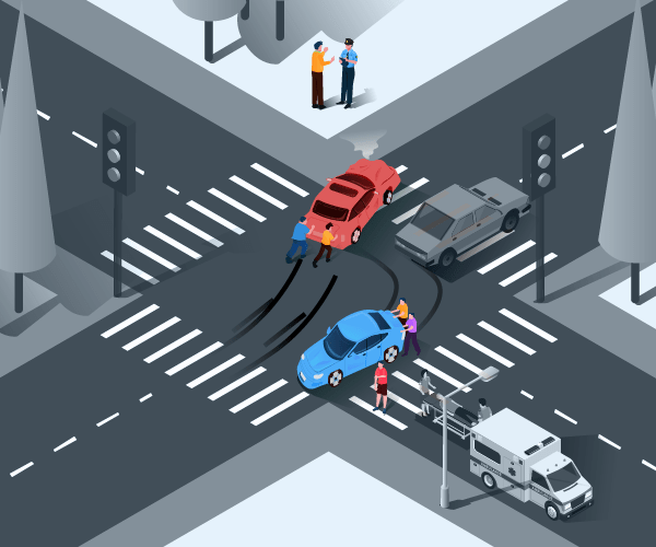 Response to car accident