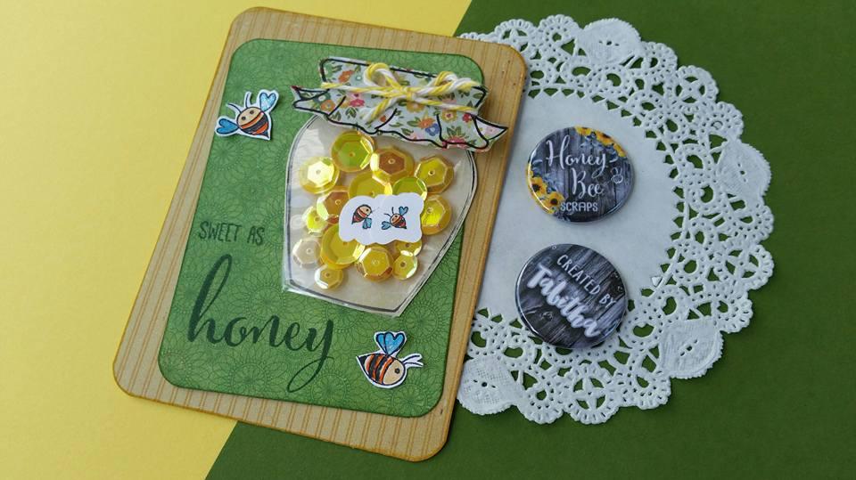 Sweet As Honey Shaker Card